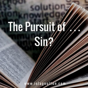 Pursuit of Sin