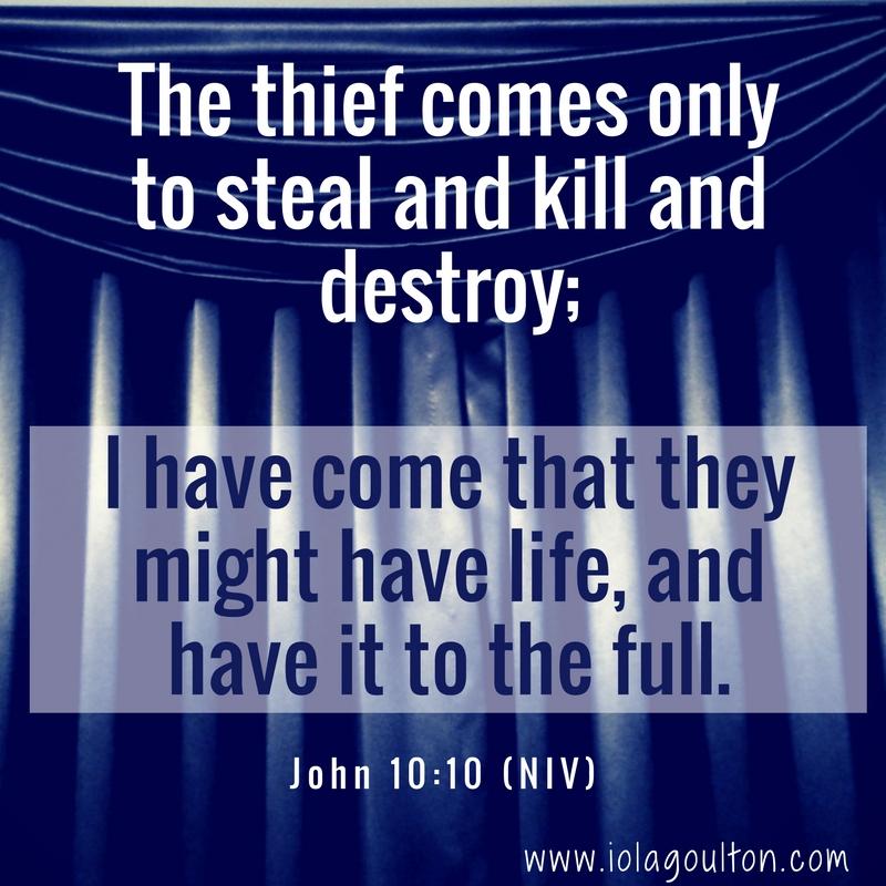 John 10:10 (NIV)