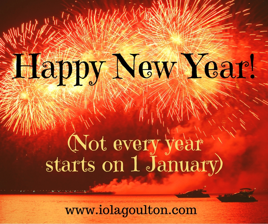 Happy New Year! (Not every year starts on 1 January)