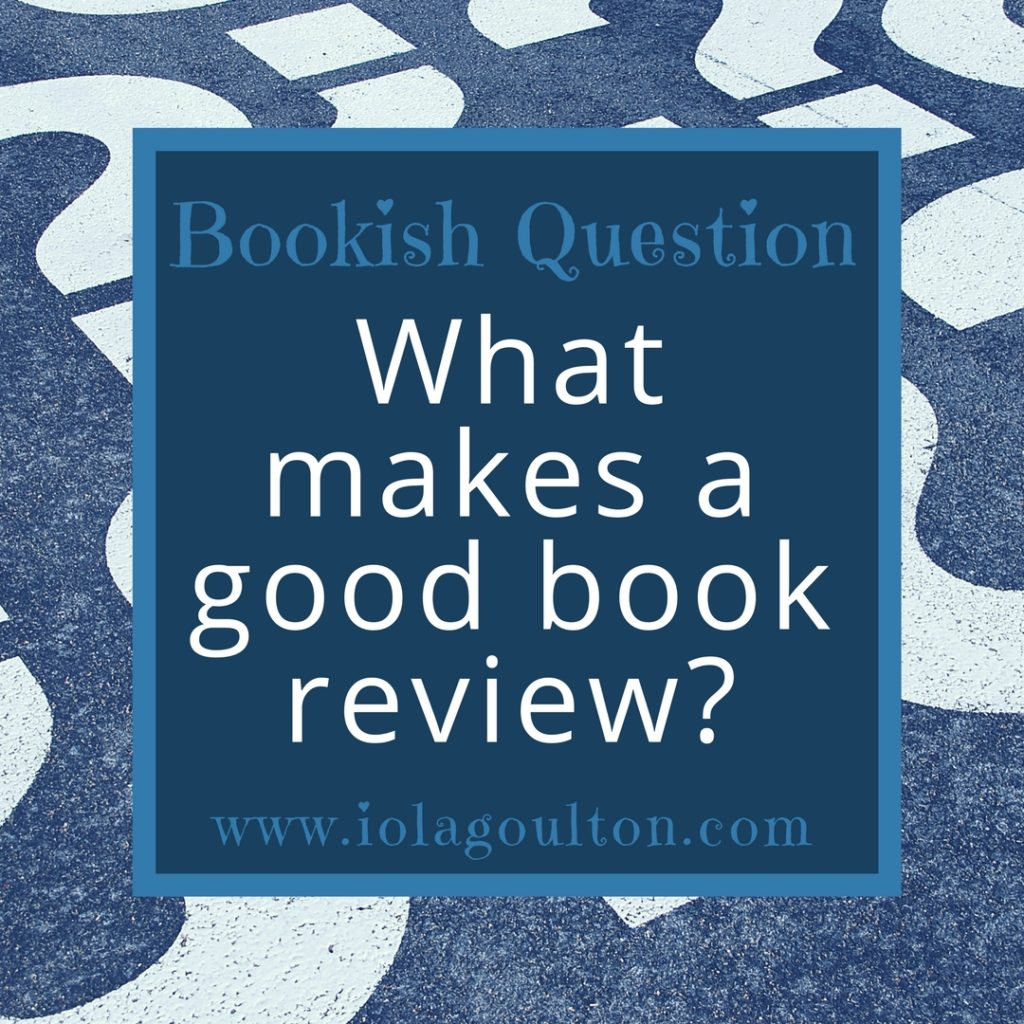 What Makes a Good Book Review?