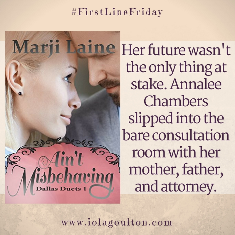 First Line: Her future wasn't the only thing at stake. Annalee Chambers slipped into the bare consultation room with her mother, father, and attorney.