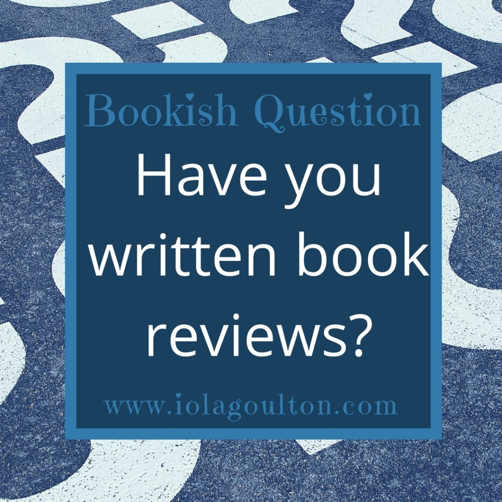 Have you written book reviews?