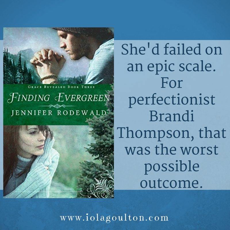 Quote from Finding Evergreen by Jennifer Rodewald: She'd failed on an epic scale. For perfectionist Brandi Thompson, that was the worst possible outcome.