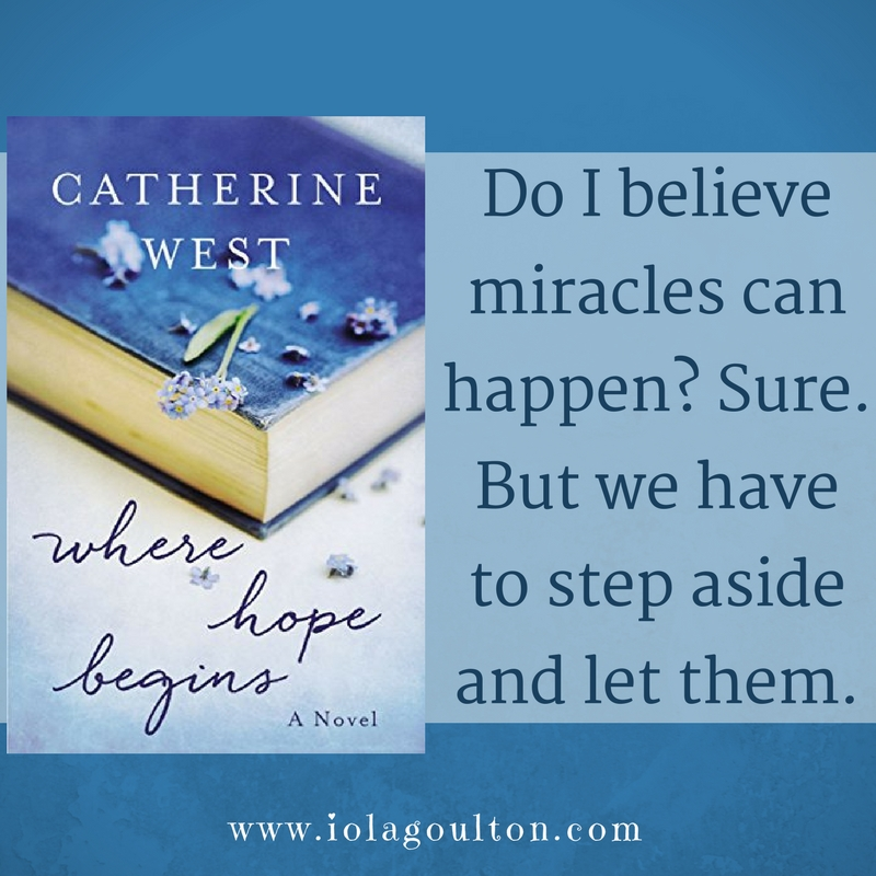 Quote: Do I believe miracles can happen? Sure. But we have to step aside and let them.