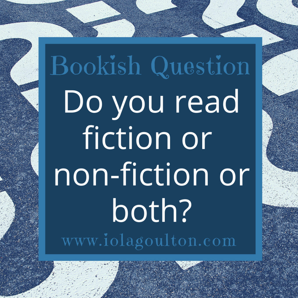 Do you read fiction or non-fiction or both?