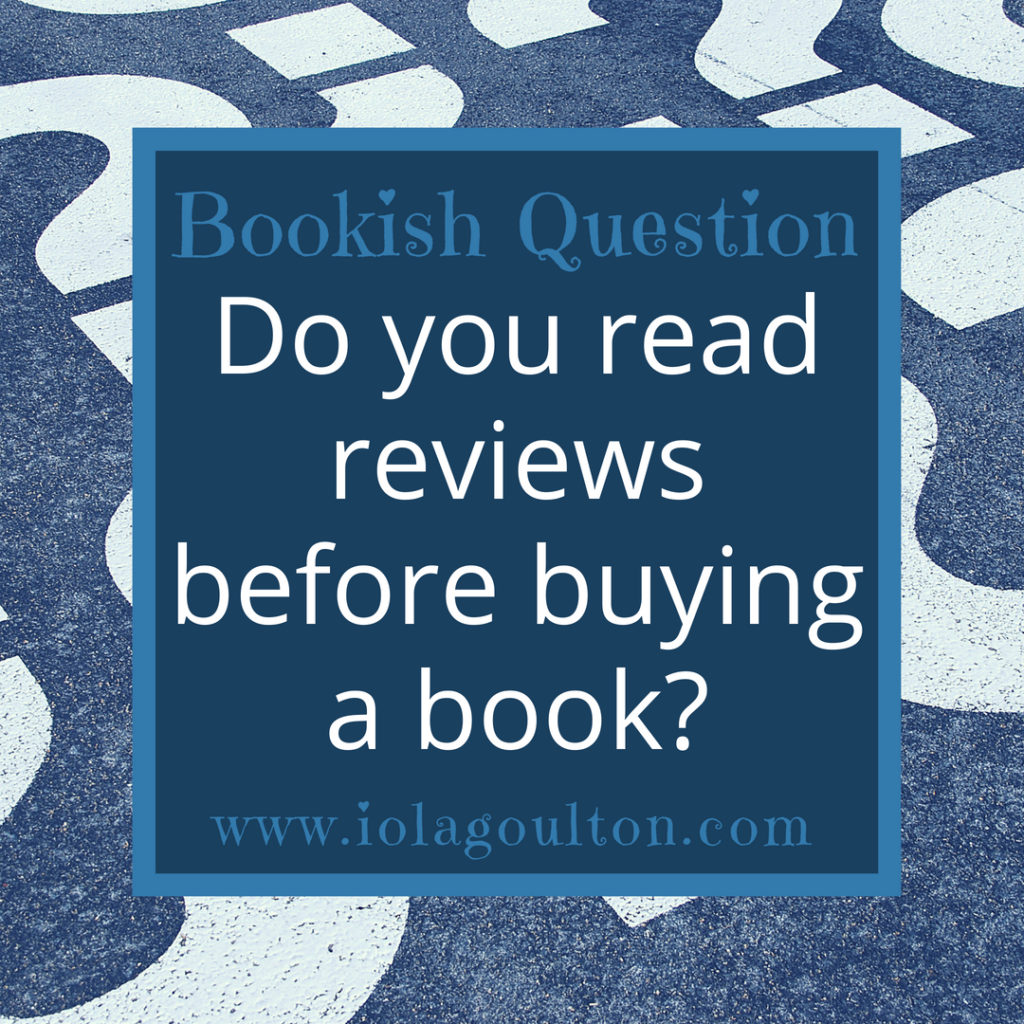 Do you read reviews before buying a book?