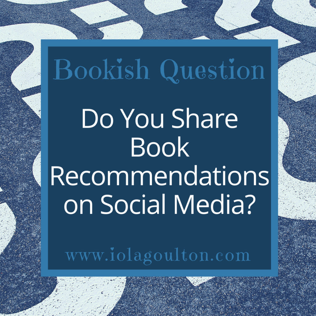 Do you share book recommendations on social media?