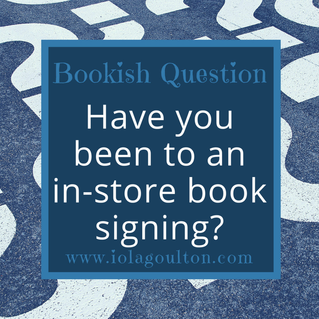 Have you been to an in-store book signing?