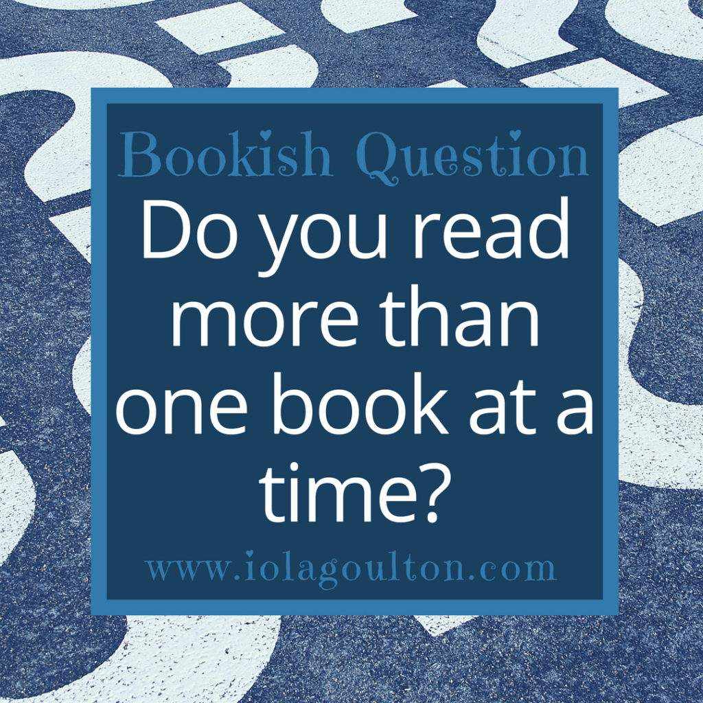 Do you read more than one book at a time?