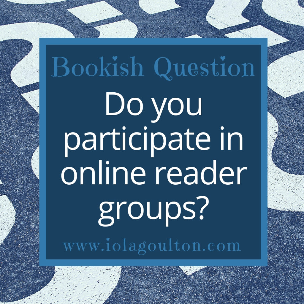 Do you participate in online reader groups?