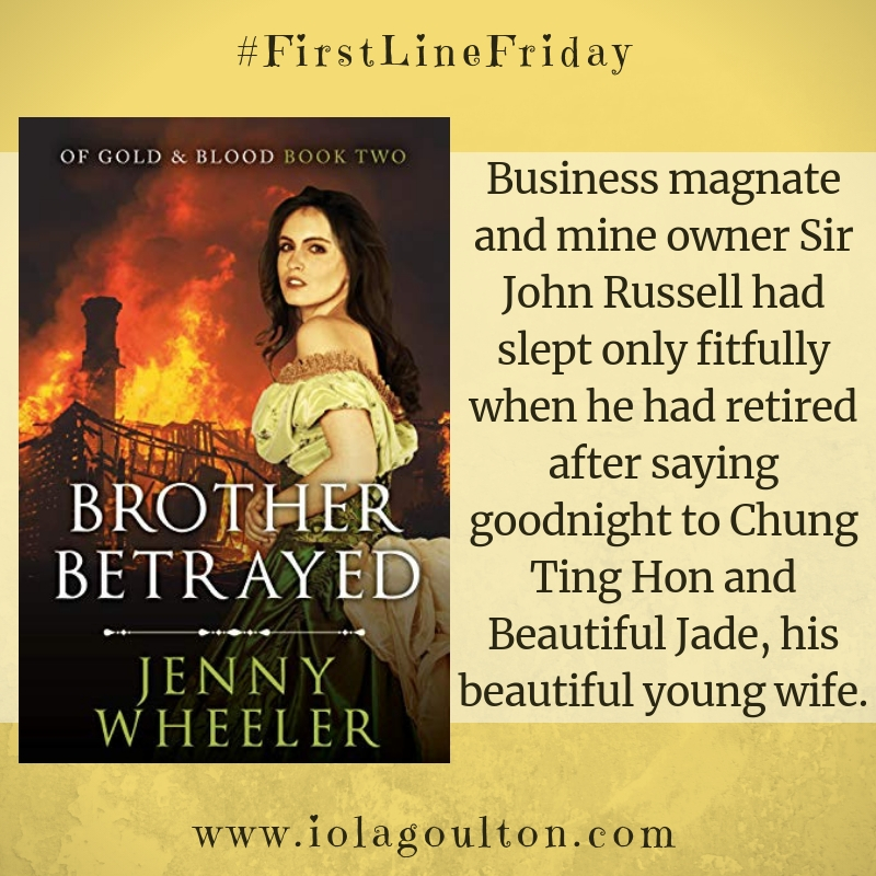 First line from Brother Betrayed: Business magnate and mine owner Sir John Russell had slept only fitfully when he had retired after saying goodnight to Chung Ting Hon and Beautiful Jade, his beautiful young wife.