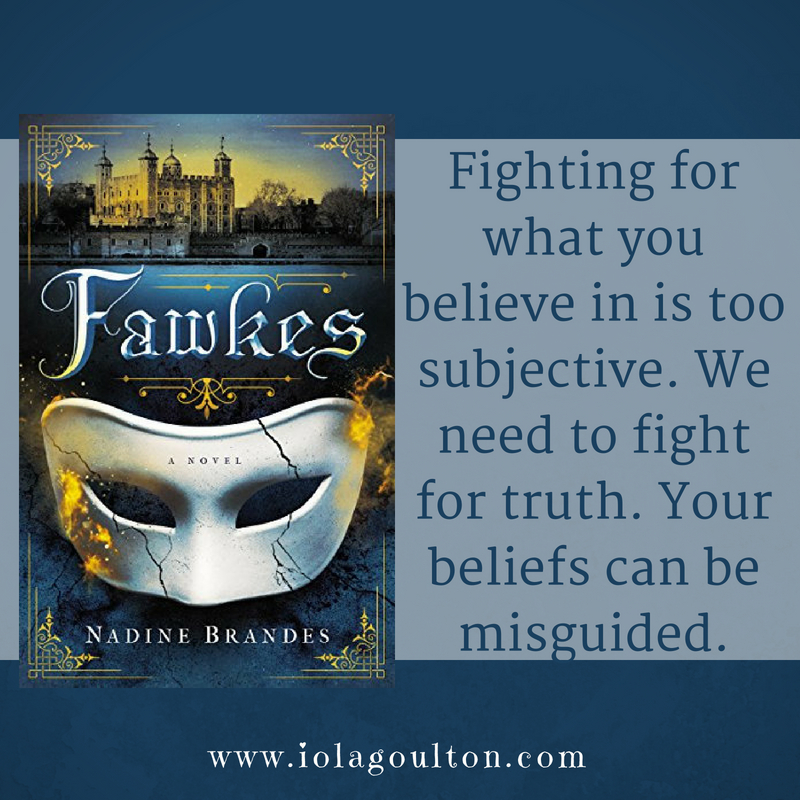 Quote from Fawkes by Nadine Brandes: Fighting for what you believe in is subjective. We need to fight for truth. Your beliefs can be misguided.