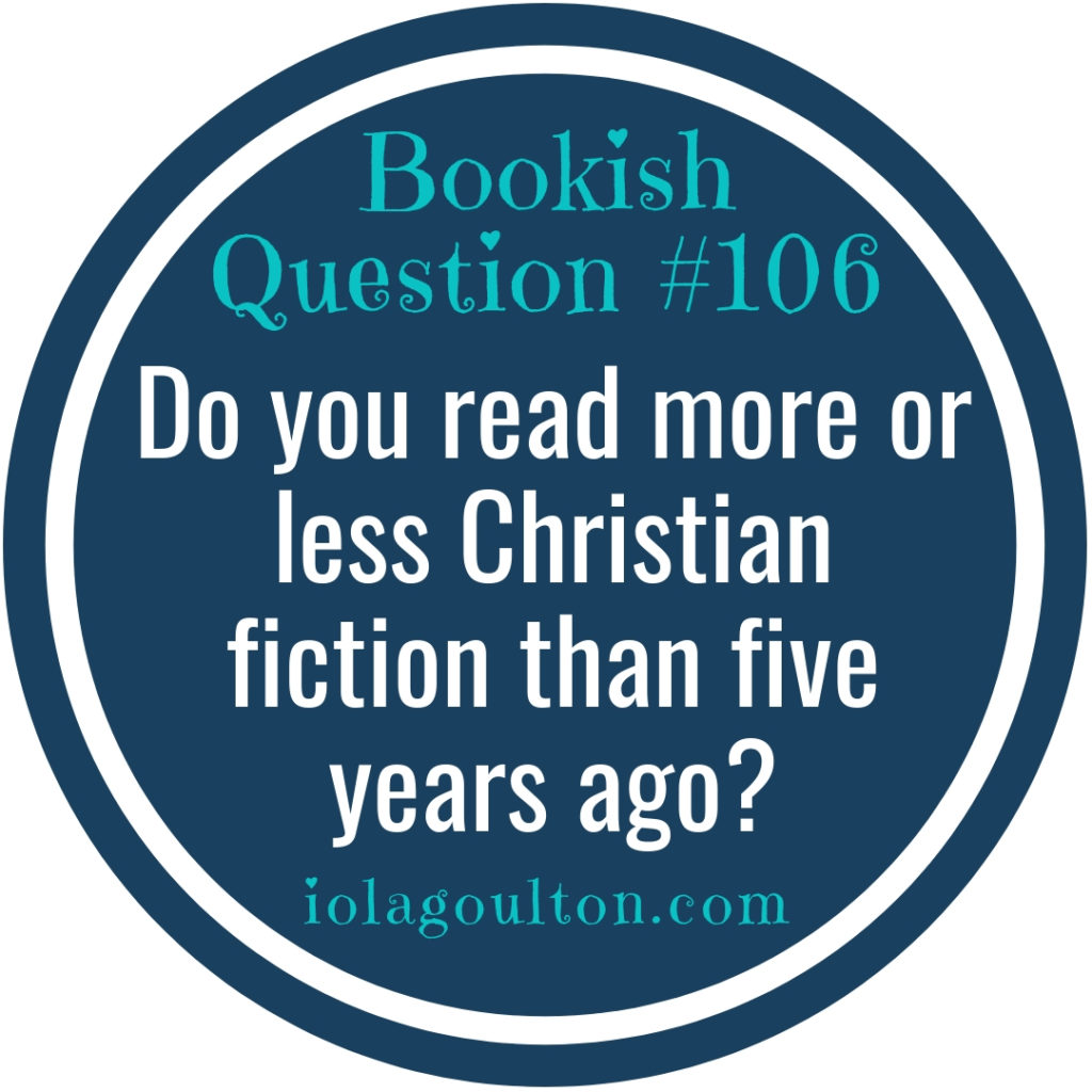 Do you read more or less Christian fiction than five years ago?