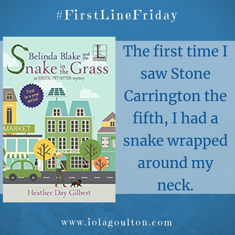 The first time I saw Stone Carrington the fifth, I had a snake wrapped around my neck.