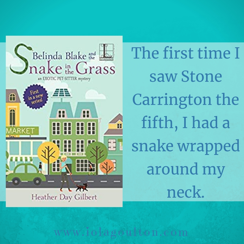 """The first time I saw Stone Carrington the fifth, I had a snake wrapped around my neck."""