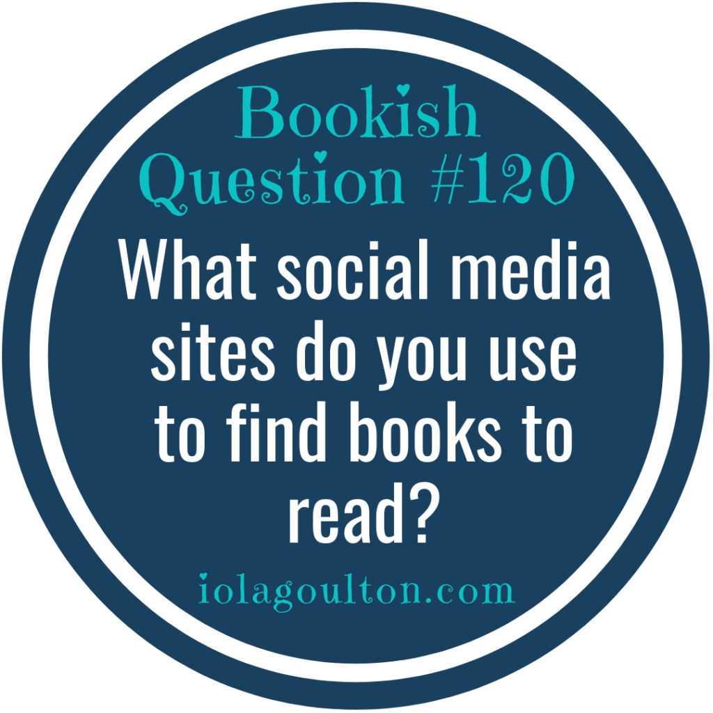 What social media sites do you use to find books to read?